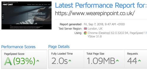 Site Speed Improvements